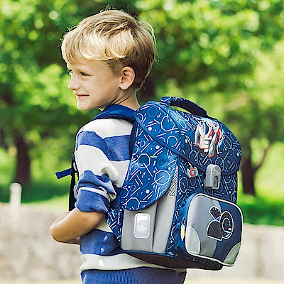 TigerFamily小學者超輕量護脊書包-音速賽車(送文具袋+鉛筆盒)