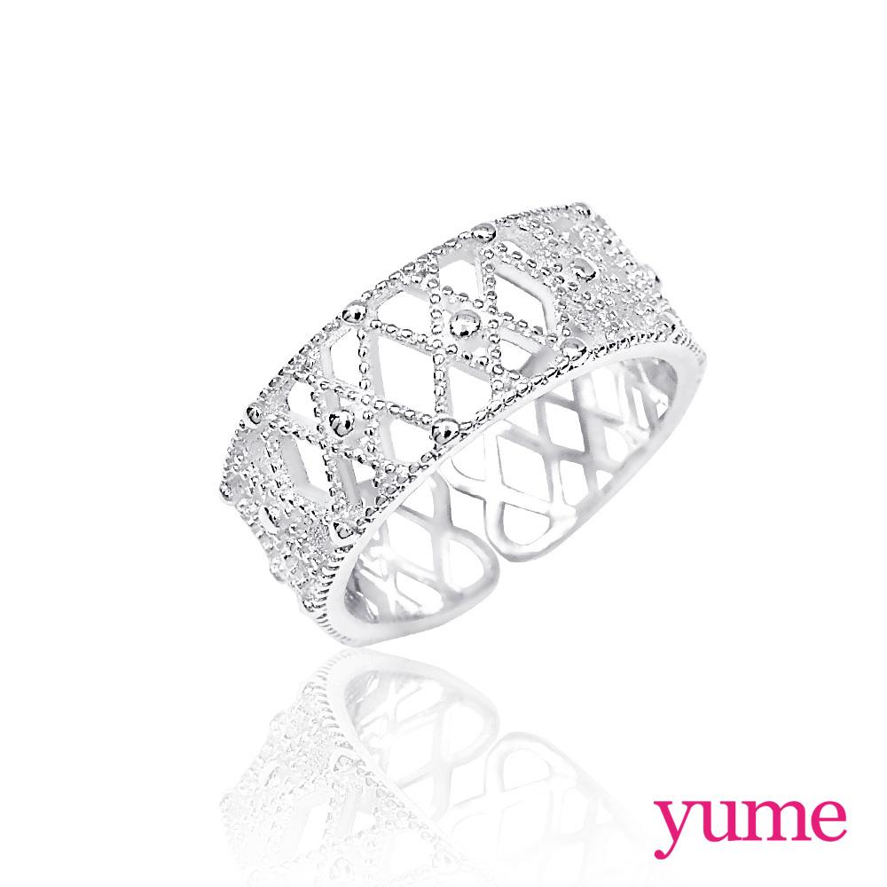 YUME 交織蕾絲戒指(925純銀)