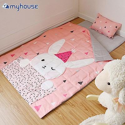 【BabyTiger虎兒寶】Myhouse  韓國防蟎兒童睡袋 - 兔子梅莉莎