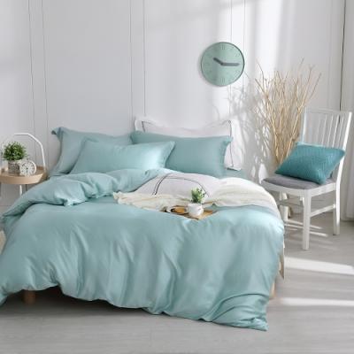 OLIVIA  solid 全綠 加大雙人床包被套四件組 300織膠原蛋白天絲 台灣製