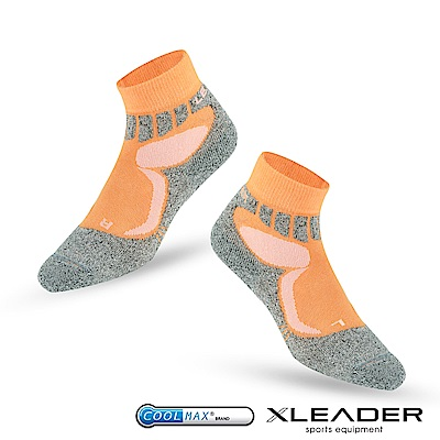 LEADER ST-07 Coolmax輕壓力 機能除臭運動襪 男款 橘色