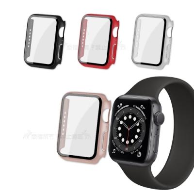 全包覆經典系列 Apple Watch Series SE/6 (40mm) 9H鋼化玻璃貼+錶殼 一體式保護殼