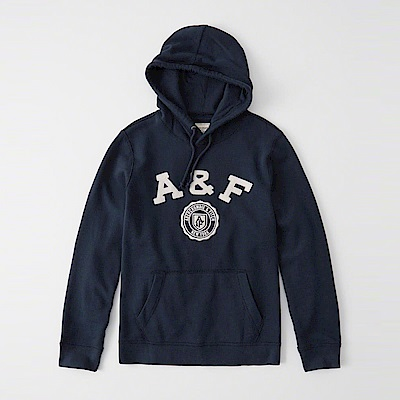 AF a&f Abercrombie & Fitch 帽T藍色 1065