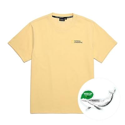 NATIONAL GEOGRAPHIC TYRANO SQUARE ARTWORK男女短袖T恤GREEN TEE系列- 化石圖案-黃-N212UTS100040