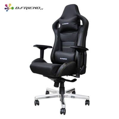 B.Friend GC07 電競專用椅 (黑)+ V110 炫彩背光電競鍵盤滑鼠組(白)