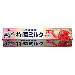 UHA味覺糖  特濃牛奶條糖-草莓味(37g)