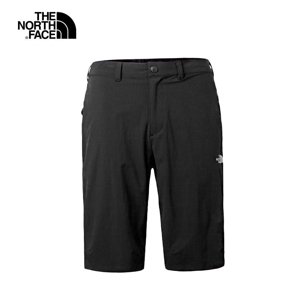 The North Face北面男款黑色防潑水徒步短褲|3CH6JK3