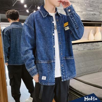 HeHa-牛仔長袖襯衫外套 兩色