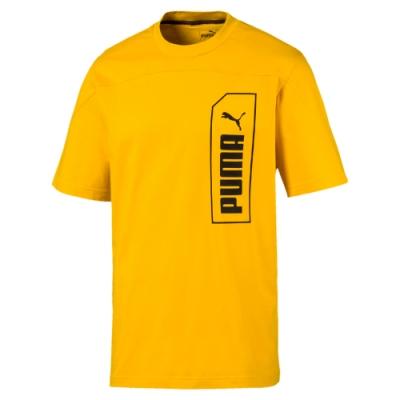 PUMA-男性基本系列NU-TILITY短袖T恤-硫磺色-亞規