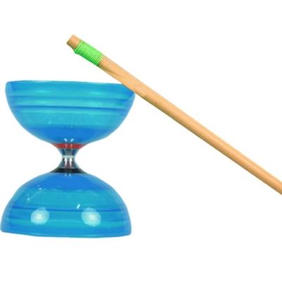 三鈴SUNDIA-台灣製造-炫風長軸三培鈴扯鈴(附木棍、扯鈴專用繩)藍色