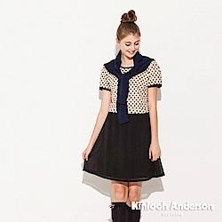【Kinloch Anderson 金安德森女裝】圓領點點洋裝