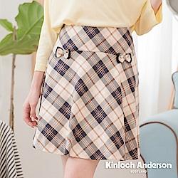 【Kinloch Anderson金安德森女裝】英倫甜美俏麗格紋短裙