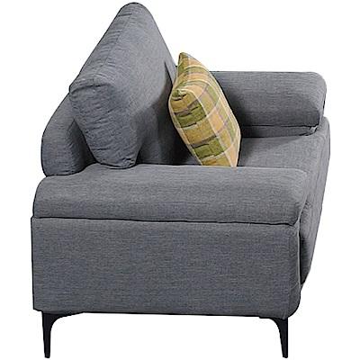 品家居 賽格利北歐風皮革獨立筒單人座沙發椅-114x92x94cm免組