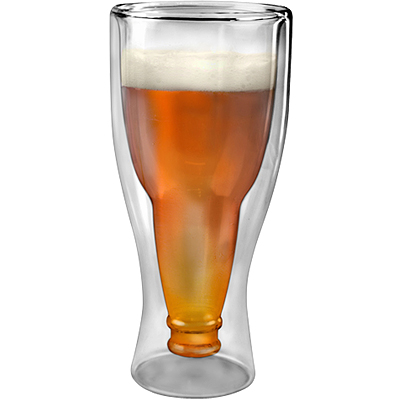 《KitchenCraft》Fred造型雙層啤酒杯(酒瓶330ml)