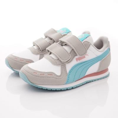 PUMA童鞋 雙絆帶流線鞋款 TH60732-78灰藍(中小童段)