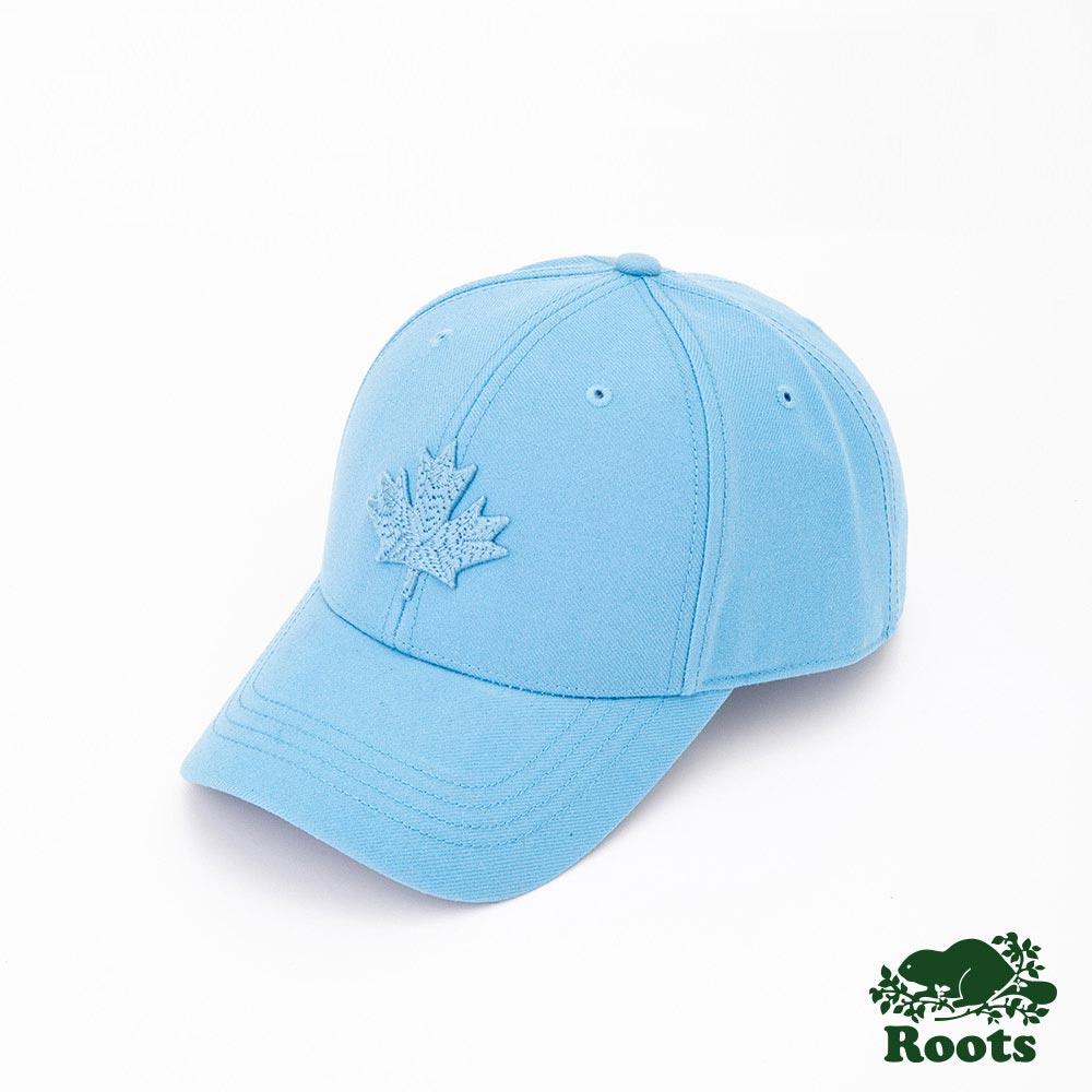 Roots配件- 摩登楓葉棒球帽-藍