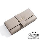 DF Queenin日韓 - 韓版氣質時尚款輕奢華女用零錢包長夾-共3色