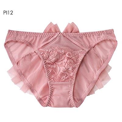 aimerfeel 臀部百褶薄紗內褲-珊瑚粉紅色-958821-PI12