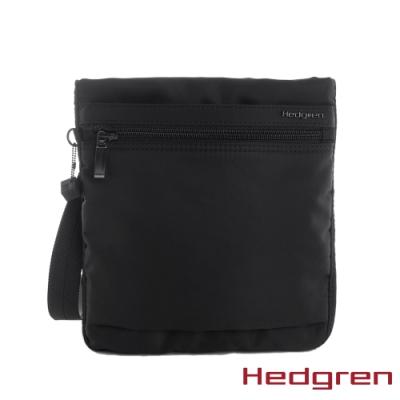 【Hedgren】INNER CITY輕量隨身 側背包-墨黑