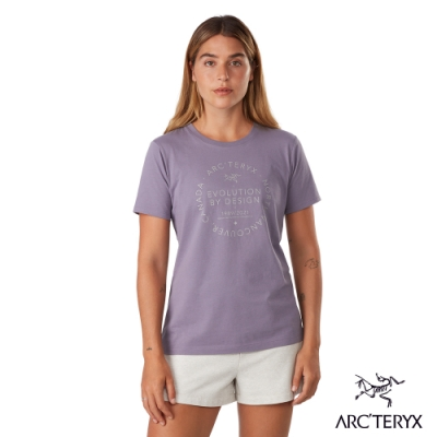 Arcteryx 始祖鳥 女 24系列 Return 100%有機棉 短袖 休閒Tee 深未來紫