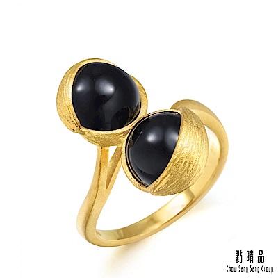 點睛品 g collection 純金黑玉髓戒指 黃金戒指