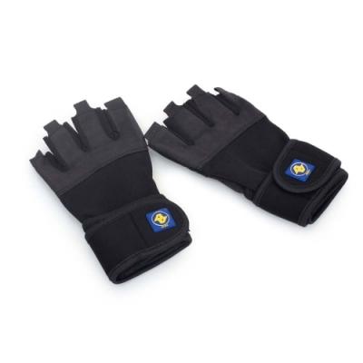 ALEX 男 重量訓練手套 黑深灰