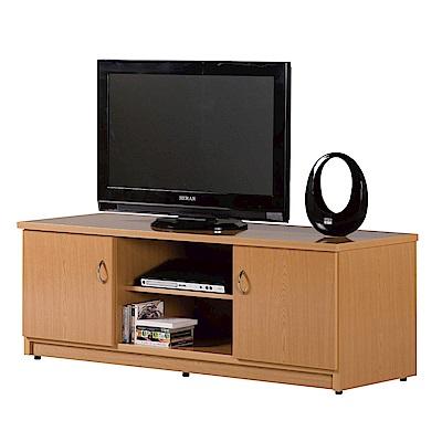 文創集 蘿倫環保4.4尺塑鋼二門電視櫃/視聽櫃(六色)-131x48x48cm-免組