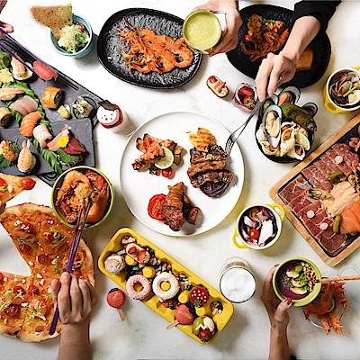 台北W飯店 肉遇之夜2人自助晚餐或小鮮肉2人早午餐吃到飽