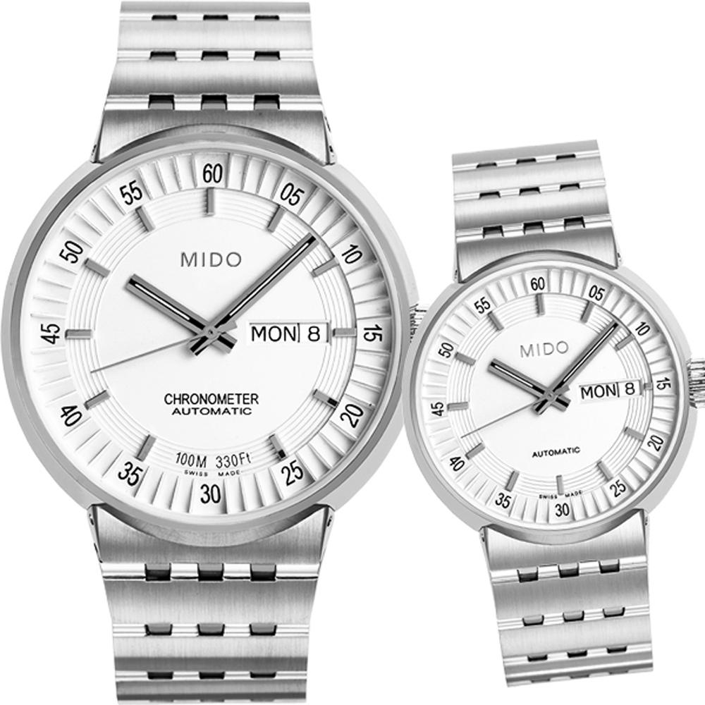 MIDO All Dial 羅馬競技場機械對錶 M83404B111+M733041112