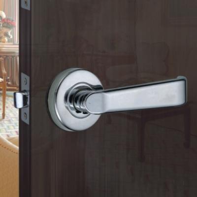 WACH 花旗門鎖 平直型 水平把手 銀色 W4021-2(無鎖匙)下座 平頭型 水平鎖
