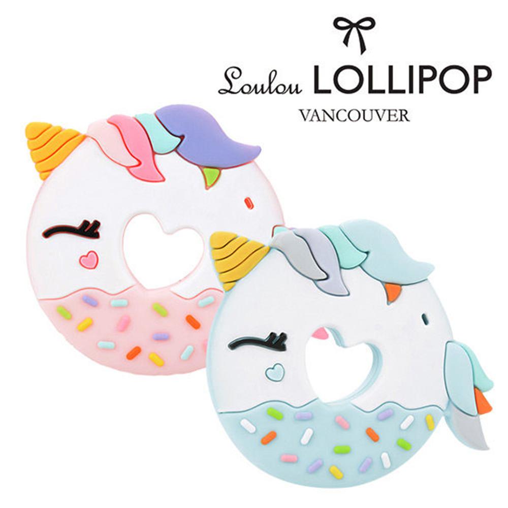 加拿大Loulou lollipop嬰幼兒固齒器 獨角獸甜甜圈系列(2款可選)