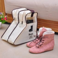 aiken 可視鞋子收納袋 防塵 靴子收納袋 (短筒)