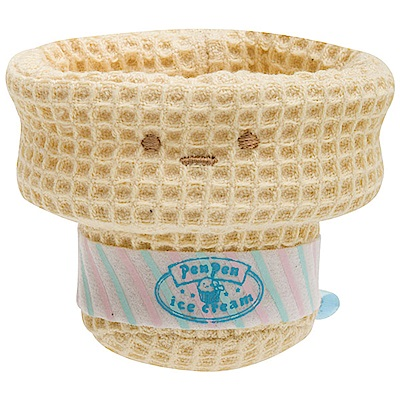 角落公仔企鵝冰淇淋系列掌心沙包公仔。冰淇淋甜筒 San-X