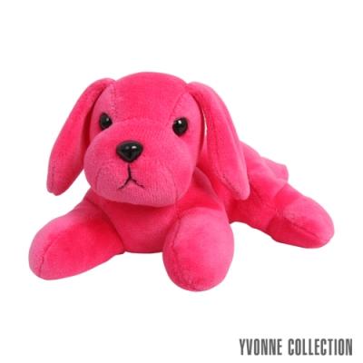 Yvonne Collection 趴趴狗玩偶-桃紅