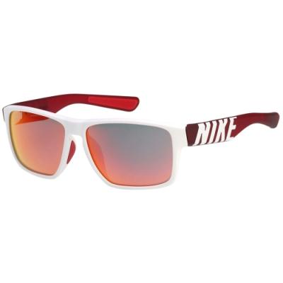 NIKE 水銀面太陽眼鏡(白配紅)EV1148