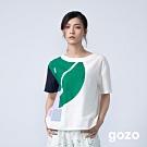 gozo 日系幾何色塊造型上衣(二色)