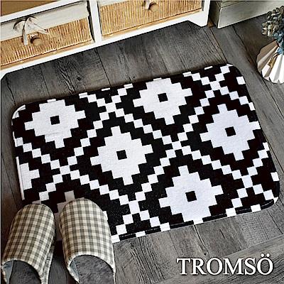 TROMSO 簡單生活超柔軟舒適地墊-M39黑白圖騰