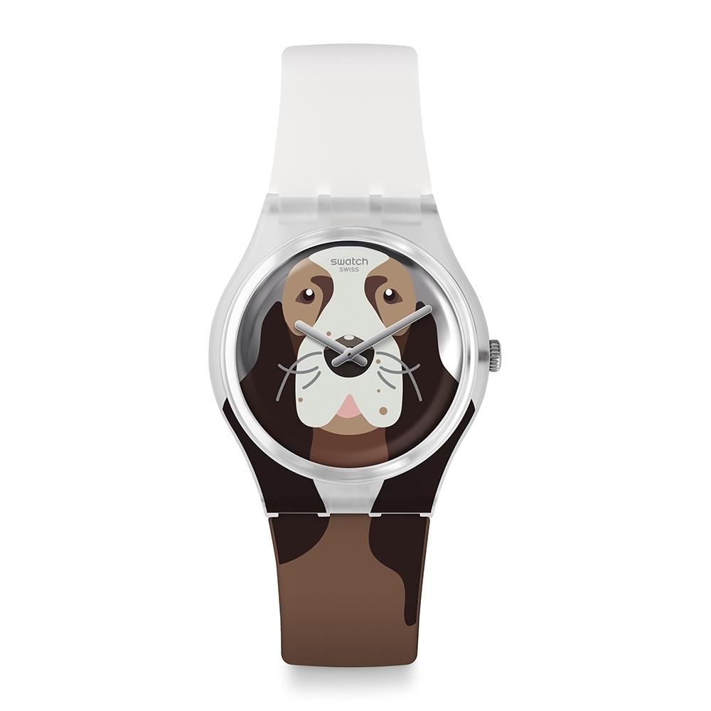 Swatch  I love your folk系列手錶 ROSIE BONE 貼心可卡犬