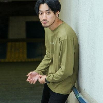 寬版長袖T恤素色長袖上衣(16色) -ZIP日本男裝