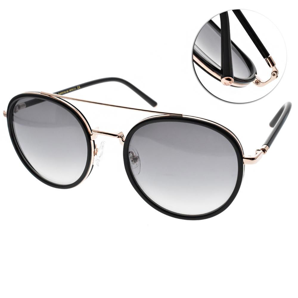 CARIN太陽眼鏡 秀智代言 雙槓復古圓框款/黑金 #ROMY C1