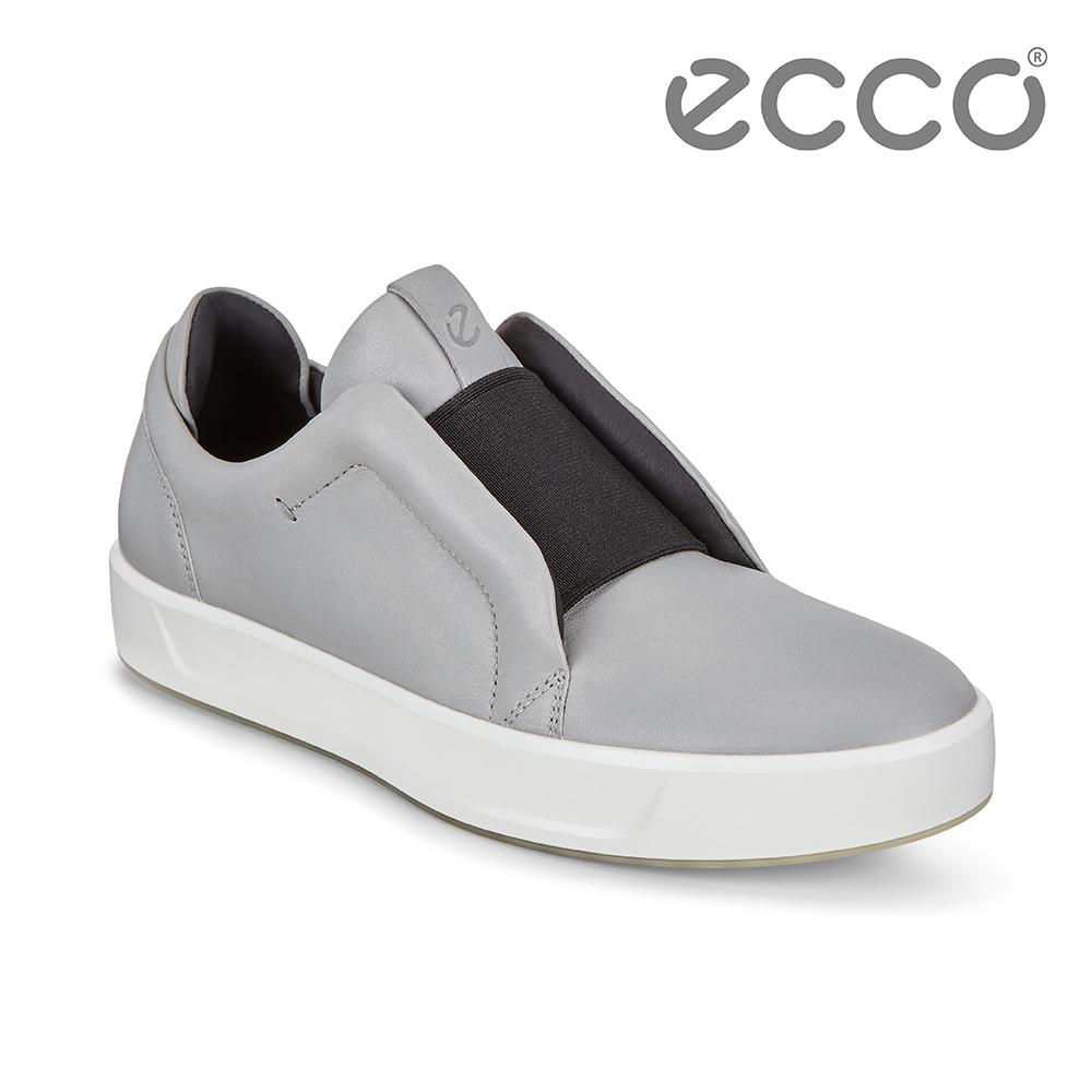 ECCO SOFT 8 W 撞色套入式休閒鞋 女-灰