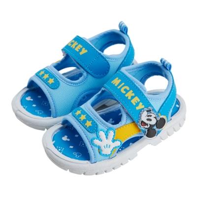 迪士尼童鞋 米奇 經典造型嗶嗶涼鞋-藍(柏睿鞋業)