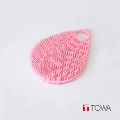 日本東和TOWA 易起泡軟質矽膠雙面按摩沐浴刷