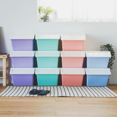 完美主義 可堆疊收納箱/塑膠櫃/玩具箱(3入組)(4色)