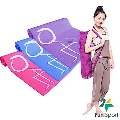 FunSport 快樂操伸展瑜珈墊-送背袋(PER環保材質)