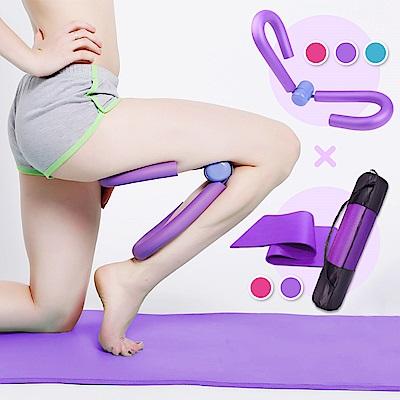 【Incare】加厚止滑瑜珈墊+運動瘦腿健身神器(贈外出背帶)