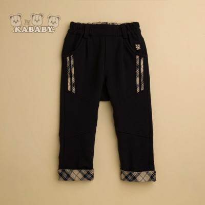 【金安德森】KA休閒棉質反折格紋長褲