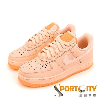 NIKE AIR FORCE 1 07 女休閒鞋 粉橘 AO2132800
