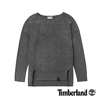 Timberland 女款灰色平口長袖上衣|B 2706052