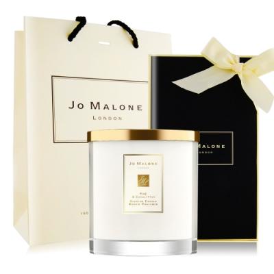 Jo Malone 冬季限定-松木與桉樹居室香氛工藝蠟燭200g[含外盒+緞帶+提袋]